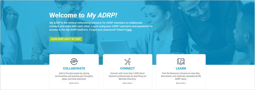 My ADRP homepage